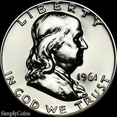 1961 Franklin Half Dollar ~ GEM Proof Uncirculated ~ 90% Silver US Coin • 19.95$