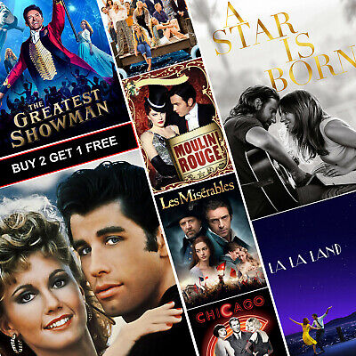 £6.99 • Buy Best MUSICAL Movie Posters A4 HD Gloss Prints Art Grease Mamma Mia Star Is Born