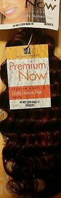 Sensationnel Premium Now 100% Human Hair Wet Look Bulk 14  Colour 1B/BGSTK  • 21.99£