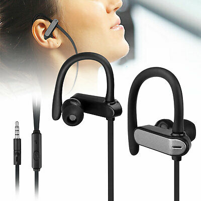 $7.97 • Buy In-Ear Wired Sport Running Earphone Earbuds Over Ear Hook Headphone 3.5mm W/MIC