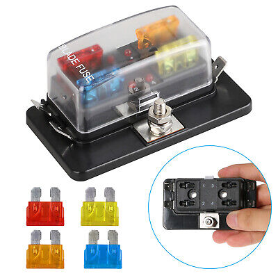 4 Way Fuse Block   Compare Prices on dealsan.com  Blade Automotive Fuse Box on buss automotive fuses, dimensions of blade fuses, mini blade fuses, types of automatic fuses, led car fuses, different types of fuses, automotive glass fuses, automotive blade connectors,