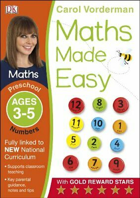 Maths Made Easy Numbers Ages 3-5 Preschool By Carol Vorderman New Paperback Book • 6.44£