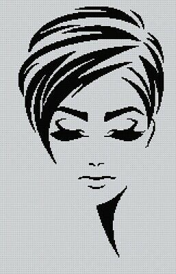 Blackwork Lady# Cross Stitch Chart • 4£