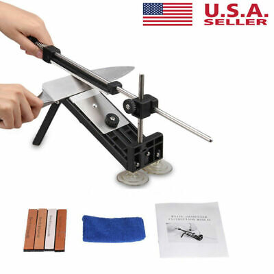 $25.99 • Buy Fix-angle Knife Sharpener Professional Kitchen Sharpening System Kits W/4 Stones