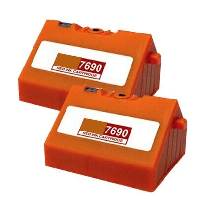 2 Red Ink Cartridge For Pitney Bowes E700 E725 E726 • 13.87£