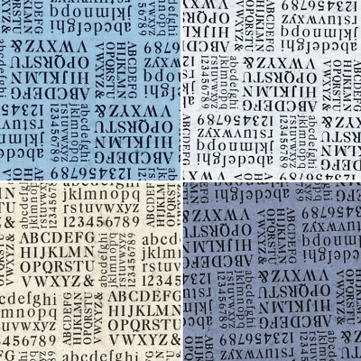 £4.60 • Buy 100% Cotton Poplin Fabric Rose And Hubble Alphabet Letters & Numbers
