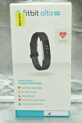 $ CDN78.53 • Buy Fitbit Alta HR Large Black Heart Rate Fitness With Adjustable Band