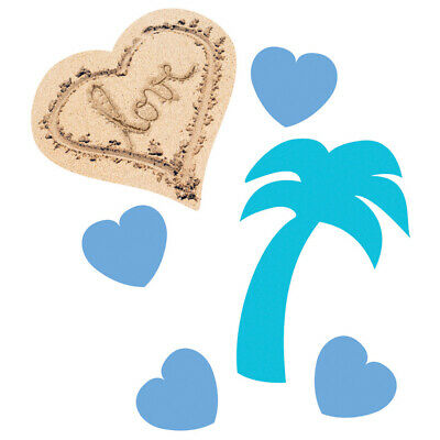 Beach Love Confetti 14g Ladies Party Table Decoration Supplies Palm Trees Hearts • 3.35£