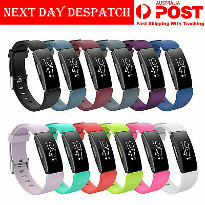 AU6.19 • Buy Fitbit Inspire HR Replacement Soft Silicone Sports Wrist Watch Band Strap