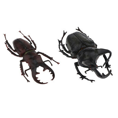 £5.39 • Buy 2pcs Insects Figure Model Beetle Figurines Toys For Toddlers Educational Toy