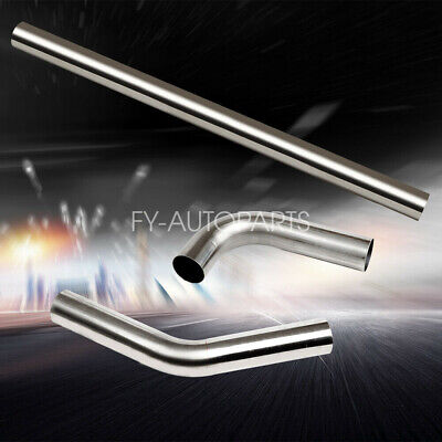 $52.97 • Buy 3  (76mm) Straight + 45 + 90 Degree Bend T-304 Stainless Steel Exhaust Tube Pipe