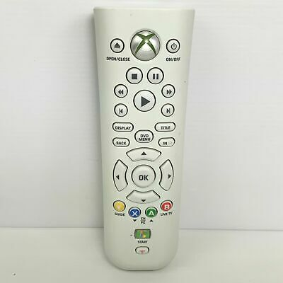 AU22.41 • Buy Genuine Official Microsoft Xbox 360 White Media Remote Controller