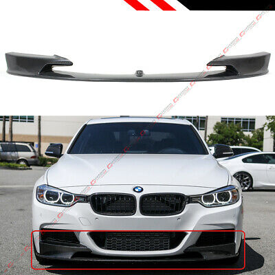 AU445.68 • Buy For 2012-18 BMW F30 3 Series M Sport Real Carbon Fiber Front Bumper Lip Splitter