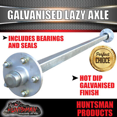 AU237 • Buy Lazy 5 Stud Trailer Axle 40mm SQ Galvanised 63-79  Axles 1000KG Camper Caravan