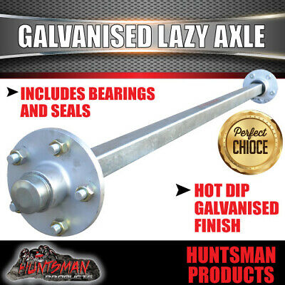 AU282 • Buy Lazy 5 Stud Trailer Axle 45mm SQ Galvanised 64-79  Axles 1400KG Rated Caravan