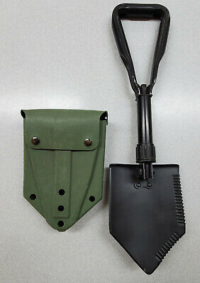$33.99 • Buy US Military Surplus Entrenching Tool With Used Green  ALICE  Vinyl Shovel Cover