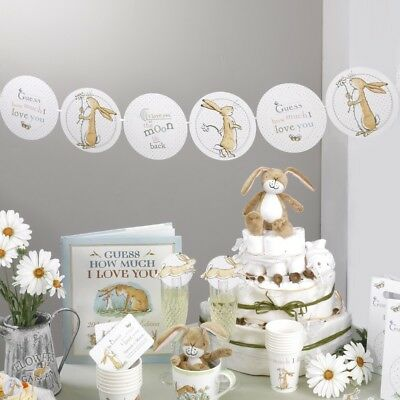 Guess How Much I Love You  Unisex Baby Shower Christening Party Tableware   • 3.99£