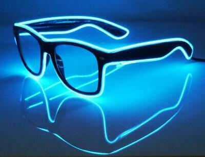 LED Glasses Flashing Light Up With Controller Rave Festival Blue - FREE POST  • 14.99£