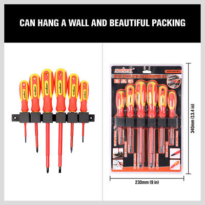 View Details 6pc 1000V Insulated Screwdriver Set Magnetic Tips Electrician Slotted Phillips • 14.99$