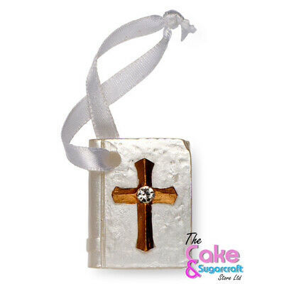 Bible Book Gold Cake Topper Communion Celebration Decoration Free Delivery • 4.99£