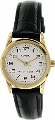$ CDN24.04 • Buy Casio Women's Quartz Gold Tone Stainless Steel Black Leather Watch LTPV001GL-7B