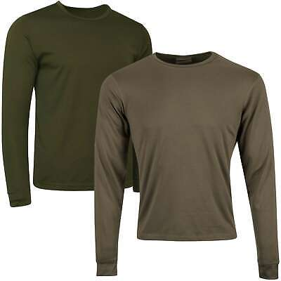 £6.50 • Buy British Army Thermal Vest Base Layer Long Sleeve Top Olive Green Undershirt