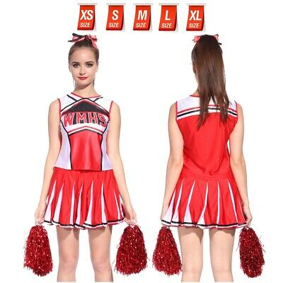 £12.19 • Buy XS-XL CHEERLEADER FANCY DRESS OUTFIT High School Musical Uniform Style Costume