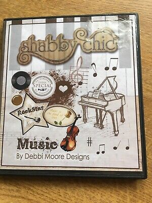 Music Shabby Chic Debbie Moore Designs Cd Rom Crafters • 5£