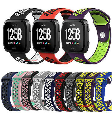 $ CDN7.04 • Buy Sport Silicon Replacement Wristband Strap Breathable Watch Band For Fitbit Versa