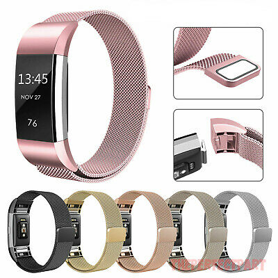 $ CDN11.11 • Buy For Fitbit Charge 2 Strap Replacement Milanese Band Metal Stainless Steel Magnet