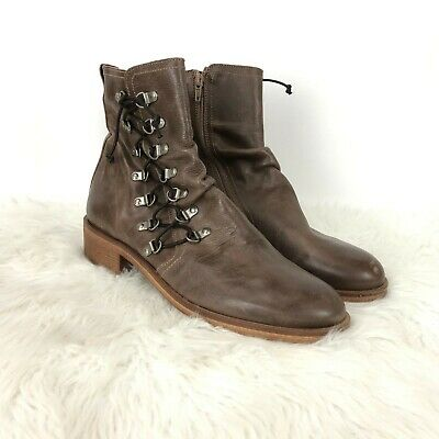 $71.99 • Buy Mala Vita Mtng 41 Womens Brown Leather Lace-up Zip-up Heeled Ankle Boots