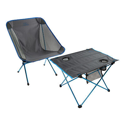 Folding Camping Table Chair HIGHLANDER MINUS ONE Ultra Lightweight Portable • 49.49£