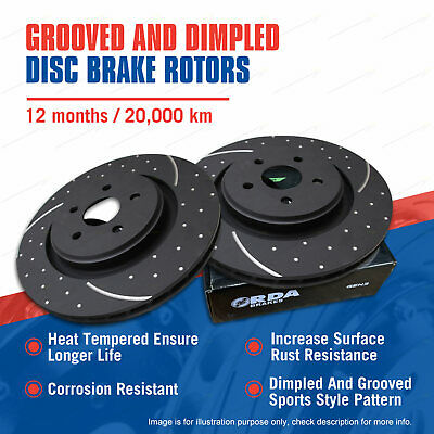 AU266.34 • Buy Front Slotted Disc Brake Rotors For Nissan Elgrand E51 E52 Stagea C34