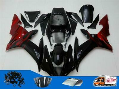 $579.99 • Buy Injection Molded ABS Fairing Kit Fit For 2002 2003 YZF R1 Yamaha Red Black Y03p