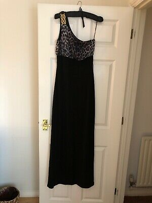 Jane Norman Leopard Print Maxi Dress With Gold Knot Detail • 25£