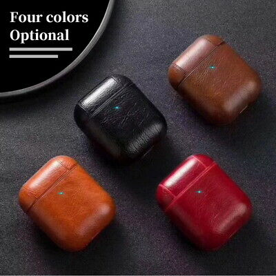 $ CDN5.08 • Buy Genuine Leather AirPods Earphone Protective Case Cover For Apple AirPods Pro 1 2