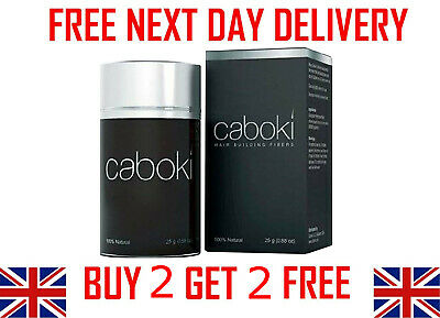CABOKI Hair Loss Fibers 25g - Buy 2 Get 2 FREE + FREE NEXT DAY DELIVERY • 9.99£