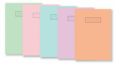 Silvine A4 Pastel  Exercise Books School Notebooks 80 Pages Class Children  • 3.99£