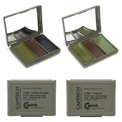 Camtech Cam Cream Army Face Paint Tropical Woodland Military Camouflage Mirror • 6.50£