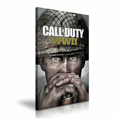 £19.99 • Buy Call Of Duty WWII Poster Picture Print Modern Canvas Art ~ 5 Sizes To Choose