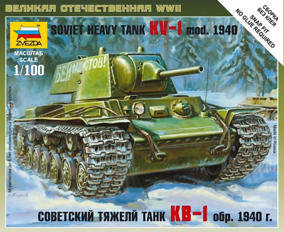 AU9.99 • Buy Zvezda 6141 1/100 Soviet Heavy Tank Kv-1 Plastic Model Kit