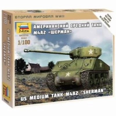 AU9.99 • Buy Zvezda 6263 1/100 Sherman M-4 Plastic Model Kit