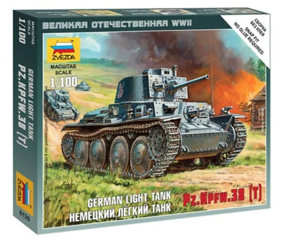 AU9.99 • Buy Zvezda 6130 1/100 German 38T Tank Plastic Model Kit