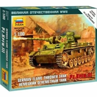AU9.99 • Buy Zvezda 6162 1/100 Panzer Iii Flamethrower Tank Plastic Model Kit