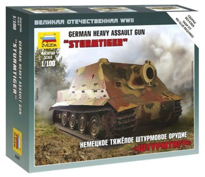 AU9.99 • Buy Zvezda 6205 1/100 Sturmtiger Heavy Assault Gun Plastic Model Kit