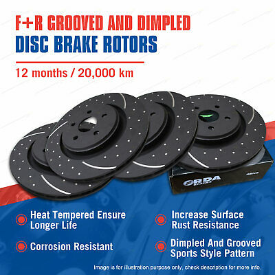 AU409.99 • Buy Front+Rear Slotted Disc Brake Rotors For Nissan Pulsar SSS N15 2.0L 8/95-on