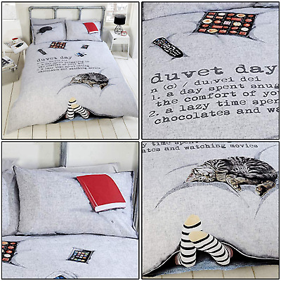 Fun Duvet Day Cosy Cat Ipad Ipod 3D Photographic Duvet Cover Set Bedding Set • 17.99£