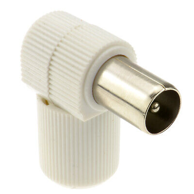 £2.07 • Buy RF Coax Right Angle PLUG For TV Aerial Cables/Freeview
