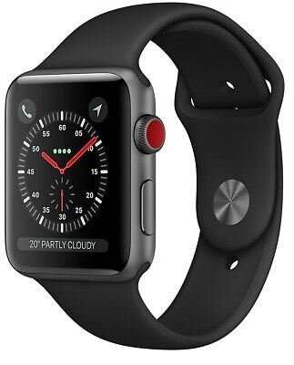 $ CDN149.96 • Buy Apple Watch Series 3 42mm Space Gray Case Black Sport Band GPS + Cellular Used