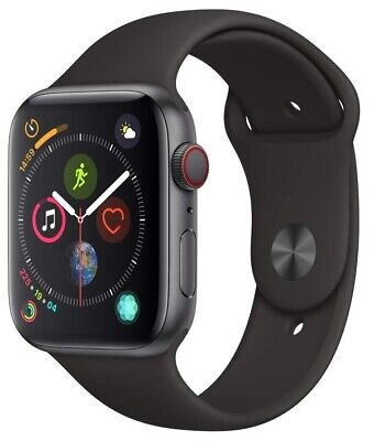 $ CDN271.51 • Buy Apple Watch Series 4 44 Mm Space Gray Case With Black Sport Band GPS + Cellular